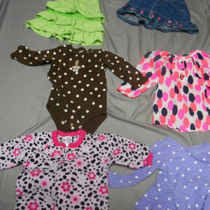 Lot of 6 girl's size 12 months clothes